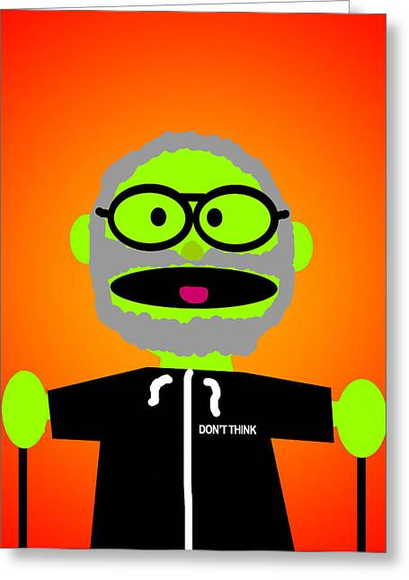 Improvisation Greeting Cards - Improv Puppet Greeting Card by Jera Sky