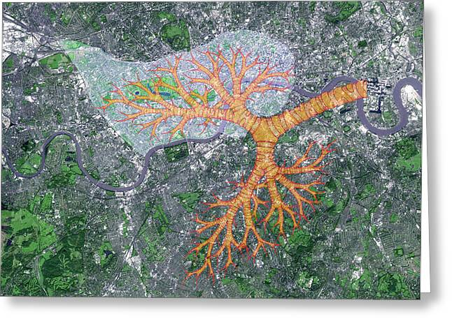 Congestion Greeting Cards - Improving Air Quality In London Greeting Card by Victor De Schwanberg