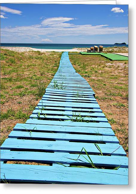 Boardwalk Greeting Cards - Improvised Boardwalk Greeting Card by Meirion Matthias