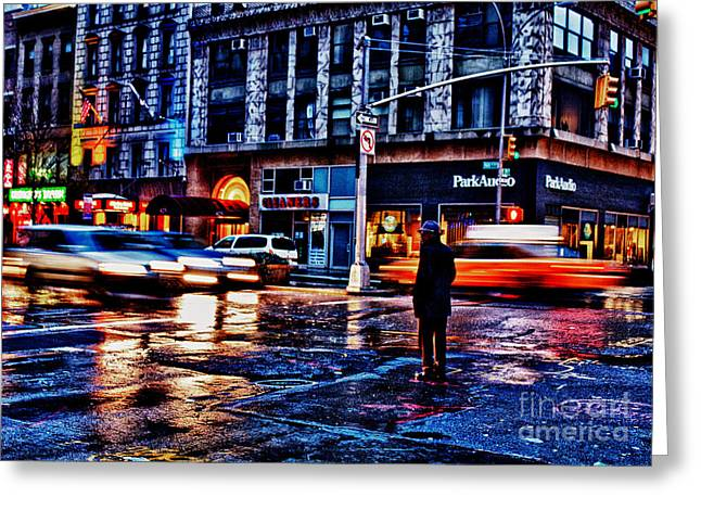 Nyc Taxi Greeting Cards - In a Bubble Greeting Card by John Farnan