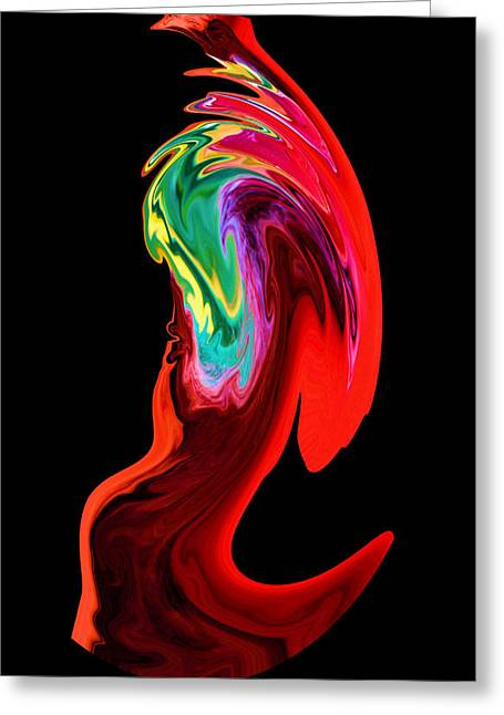 Focal Color Art Greeting Cards - In a Frenzy Greeting Card by Karen M Scovill