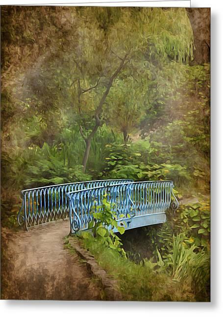 Garden Scene Digital Greeting Cards - In a Garden Greeting Card by Svetlana Sewell