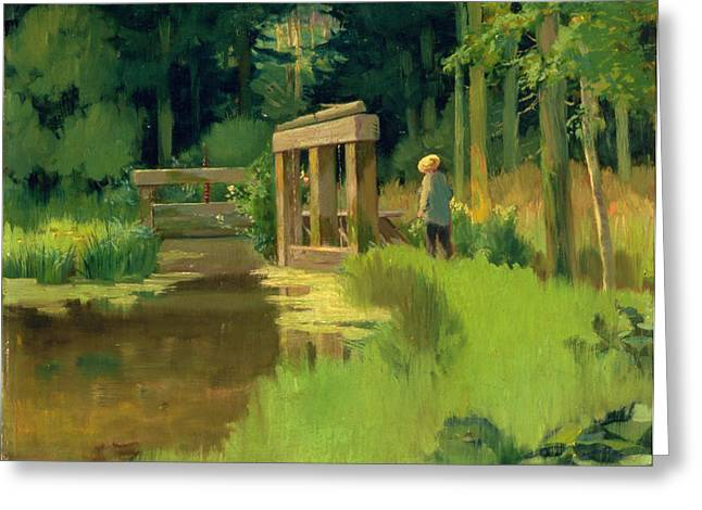 Manet Greeting Cards - In a Park Greeting Card by Edouard Manet