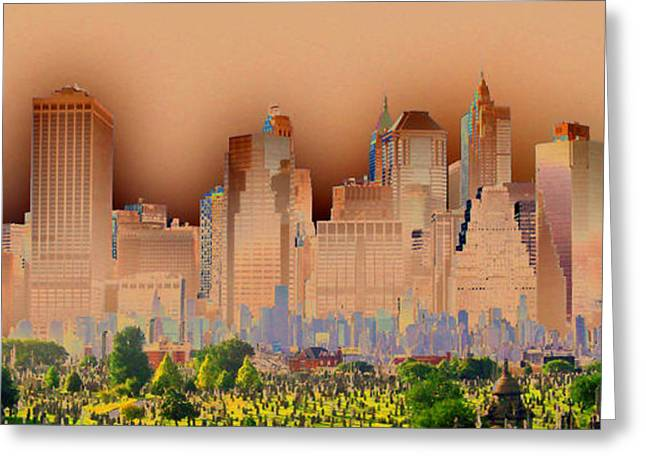 Headstones Greeting Cards - In and out of NY Greeting Card by Ayesha DeLorenzo