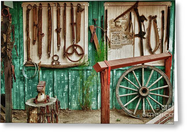 Farrier Greeting Cards - In Another Time Greeting Card by Sandra Bronstein