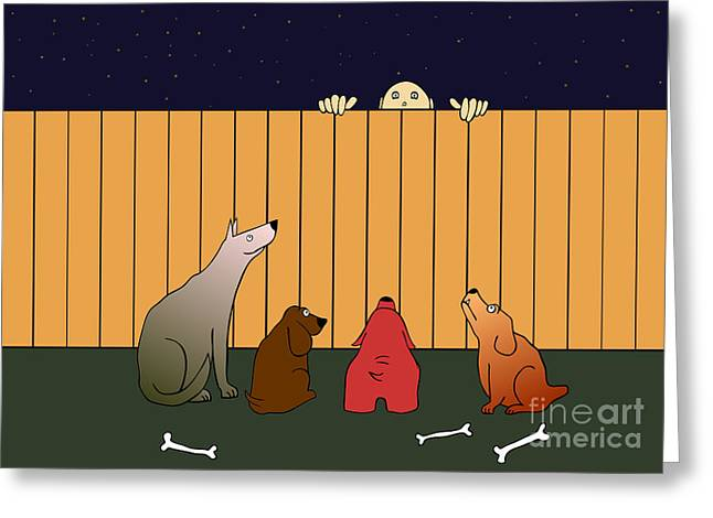 Watchdog Greeting Cards - In Bad Time On The Bad Place Greeting Card by Michal Boubin