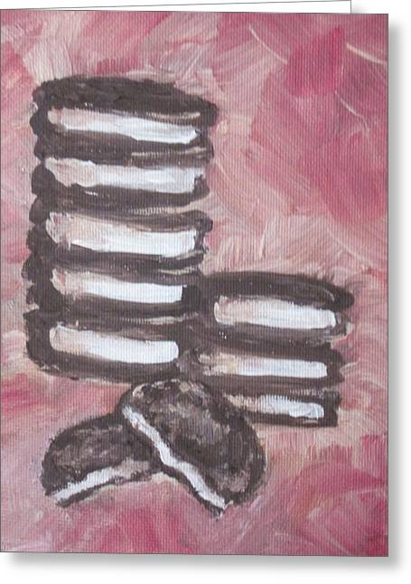 Oreo Cookie Greeting Cards - In Between Greeting Card by Sandy Tracey