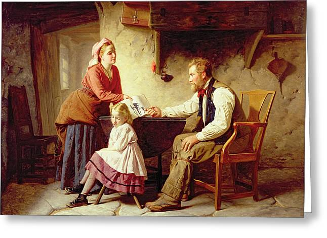 Parenthood Greeting Cards - In Disgrace Greeting Card by William Henry Midwood