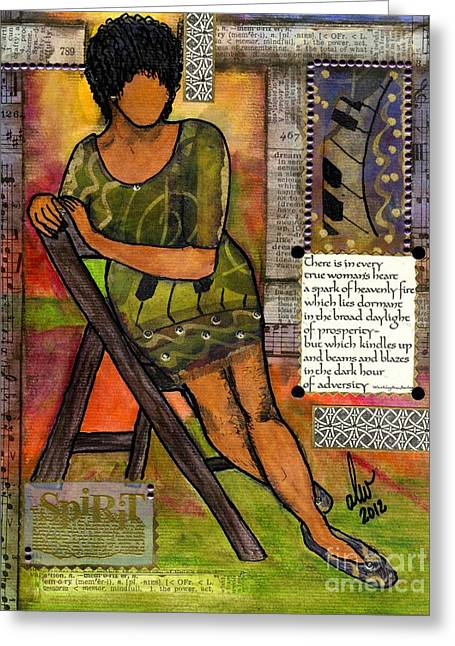 Survivor Art Greeting Cards - In Every TRUE Woman Greeting Card by Angela L Walker