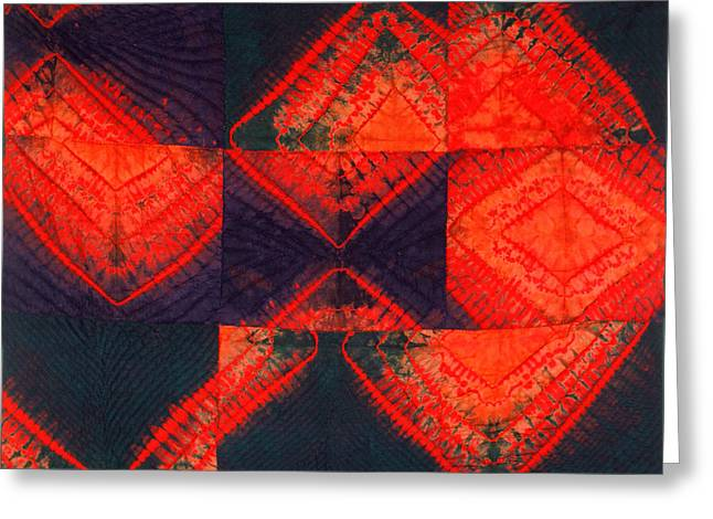 Bass Tapestries - Textiles Greeting Cards - In Flux Greeting Card by Mildred Thibodeaux