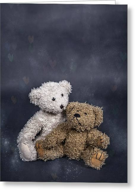 Teddy Greeting Cards - In Love Greeting Card by Joana Kruse