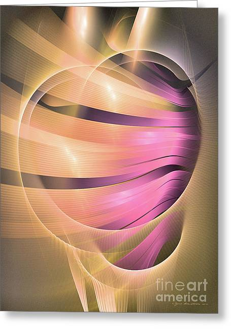 In Medias Res Greeting Card by Abstract art prints by Sipo