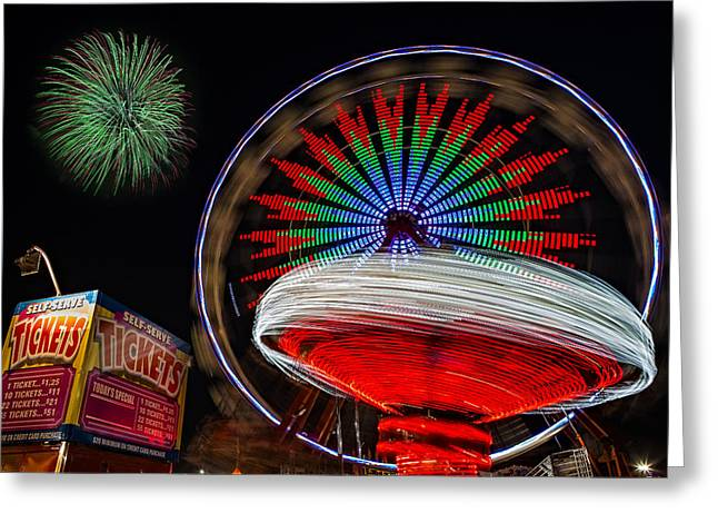 State Fairs Greeting Cards - In Motion Greeting Card by Susan Candelario