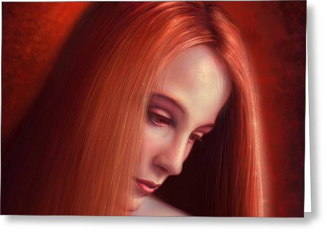 In Mourning Greeting Card by Philip Straub