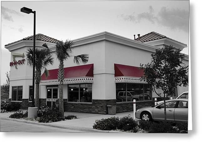 Hamburger Greeting Cards - In-N-Out II Greeting Card by Ricky Barnard