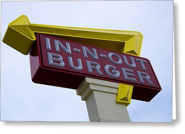 Hamburger Greeting Cards - In-N-Out III Greeting Card by Ricky Barnard