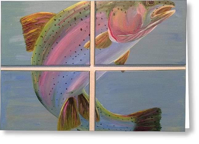 Rainbow Trout Greeting Cards - In Rainbows Greeting Card by Jennifer J Folsom