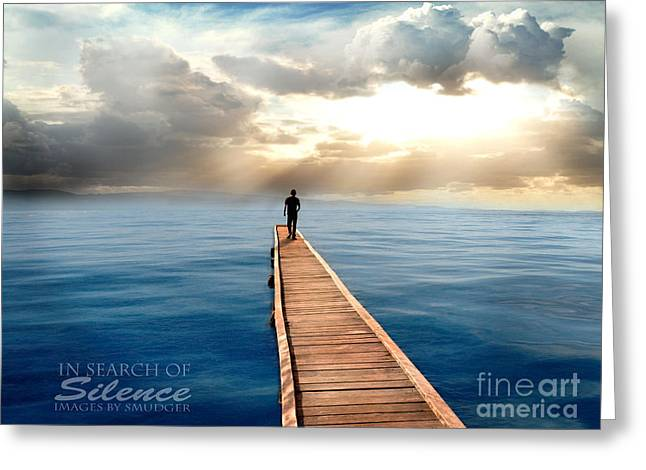 Sea Watch Greeting Cards - In Search of Silence  Greeting Card by Eugene James