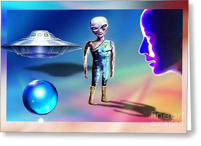 Outer Limits Greeting Cards - In Space... Greeting Card by Hartmut Jager