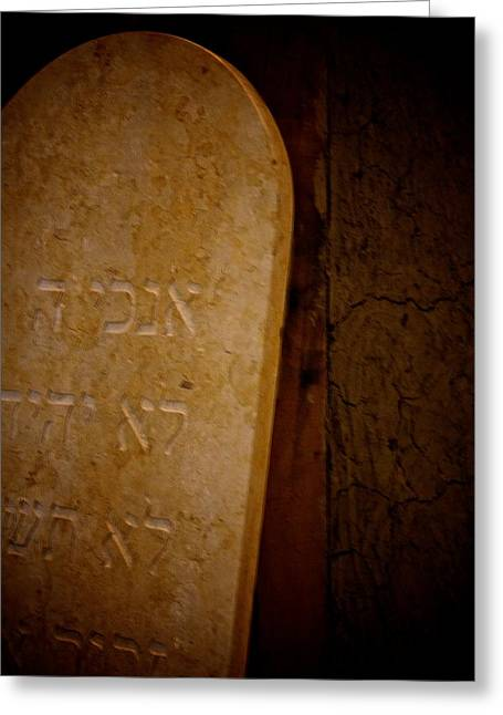 Headstones Greeting Cards - In Stone Greeting Card by Odd Jeppesen