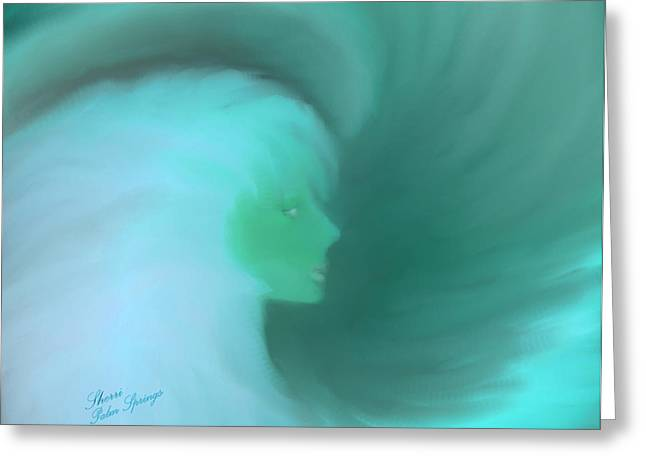 Digital Art Greeting Cards - In The Arms Of An Angel Greeting Card by Sherri  Of Palm Springs