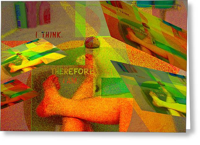 Conceptual Abstraction Greeting Cards - In the Bath Greeting Card by Neil Woodward