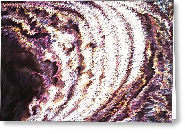 Seashell Art Pastels Greeting Cards - In The Beginning Greeting Card by Pamela Maloney