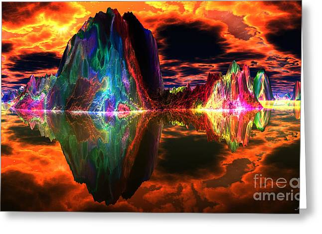 The Beginning Greeting Cards - In The Beginning there was Fire Greeting Card by Heinz G Mielke