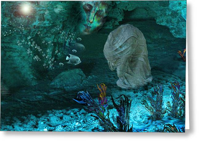 Meditative Art Greeting Cards - In The Deep Greeting Card by Patricia Motley