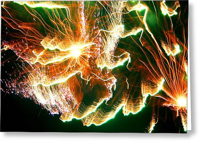 Best Sellers -  - Pyrotechnics Greeting Cards - In The Depths Of An Interstellar Sea Greeting Card by David Dunham