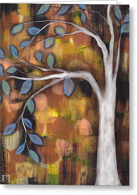 Family Tree Greeting Cards - In the Fall Greeting Card by  Abril Andrade Griffith