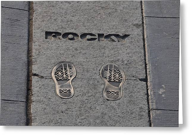 Stallone Digital Art Greeting Cards - In the Footsteps of Rocky Greeting Card by Bill Cannon