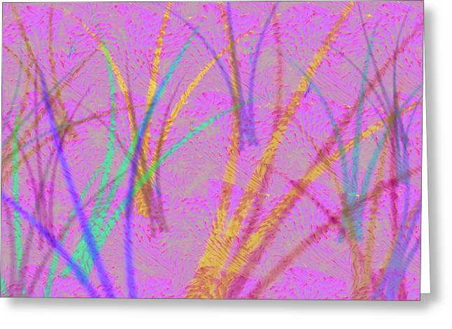 Purple Abstract Greeting Cards - In the Forest Greeting Card by Marcile Powers
