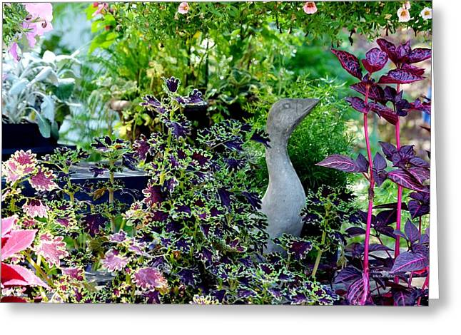 Garden Statuary Greeting Cards - In the Garden of Shade Greeting Card by Maria Urso