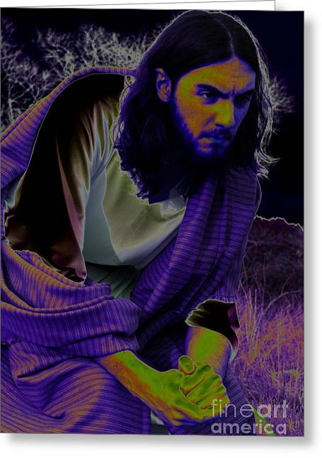 Christ Gethsemane Greeting Cards - In the Garden Greeting Card by Robert D McBain