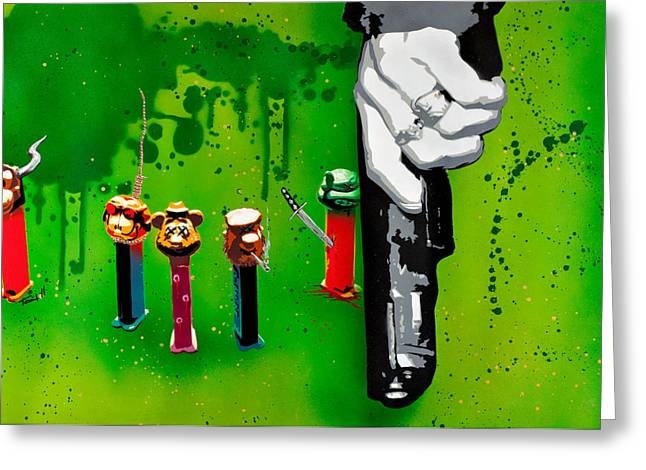Splatter Paint Greeting Cards - In the Hands of the Common Man Greeting Card by Iosua Tai Taeoalii