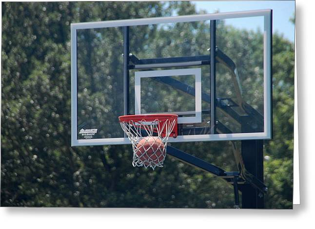 Basketballs Greeting Cards - In the Hoop Greeting Card by Michael Florence