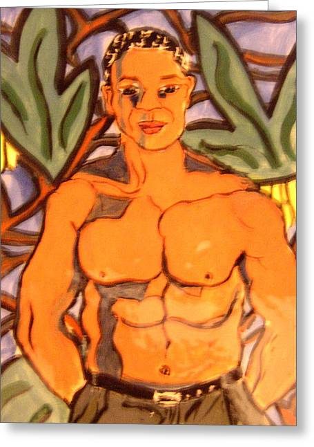Bare Ceramics Greeting Cards - In the Jungle Greeting Card by Patricia Lazar