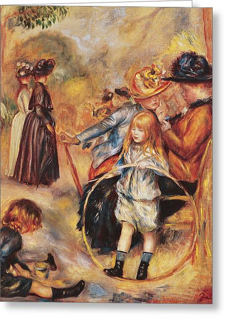 Short Hair Greeting Cards - In the Luxembourg Gardens Greeting Card by Pierre Auguste Renoir