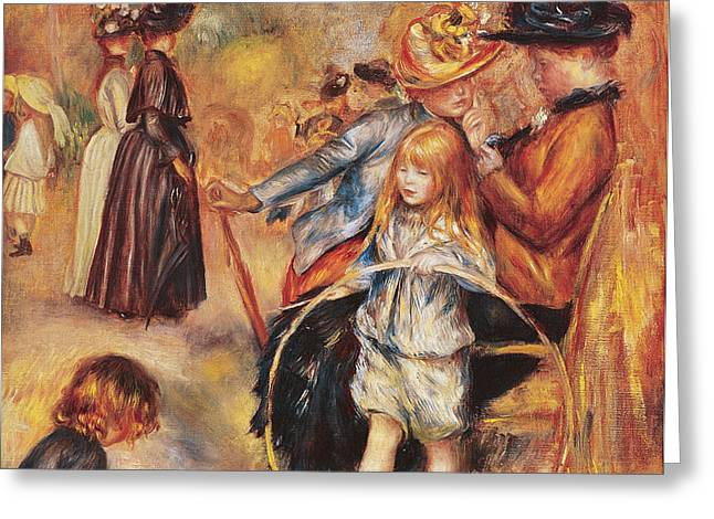 In the Luxembourg Gardens Greeting Card by Pierre Auguste Renoir