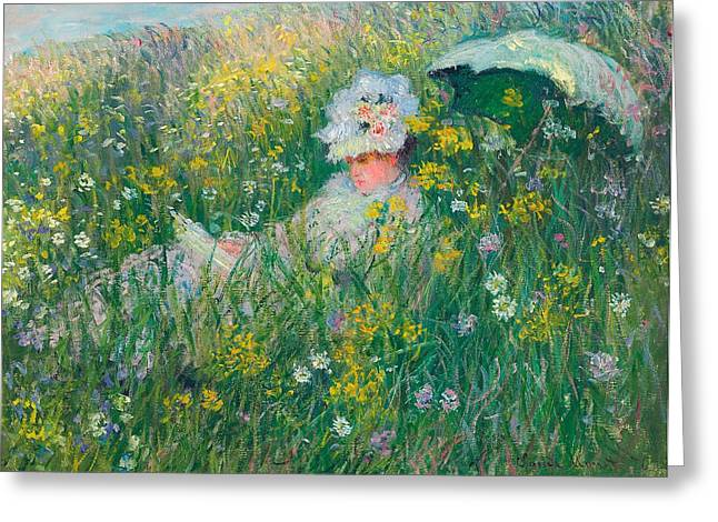 Prairies Greeting Cards - In the Meadow Greeting Card by Claude Monet