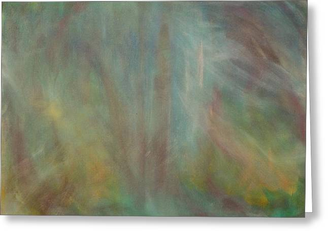 Inner Reality Paintings Greeting Cards - In the Mist Greeting Card by Jon D Gemma
