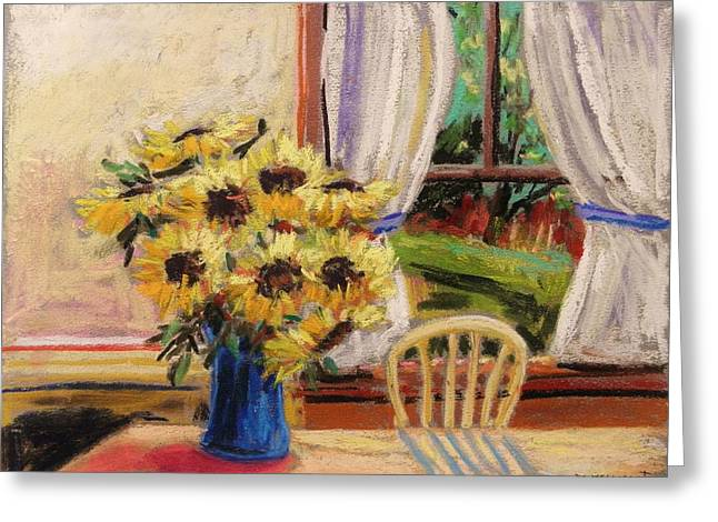 Sunlight On Flowers Drawings Greeting Cards - In the Morning Greeting Card by John  Williams