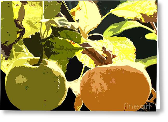 Autumn Art Mixed Media Greeting Cards - In The Orchard Greeting Card by Patrick J Murphy