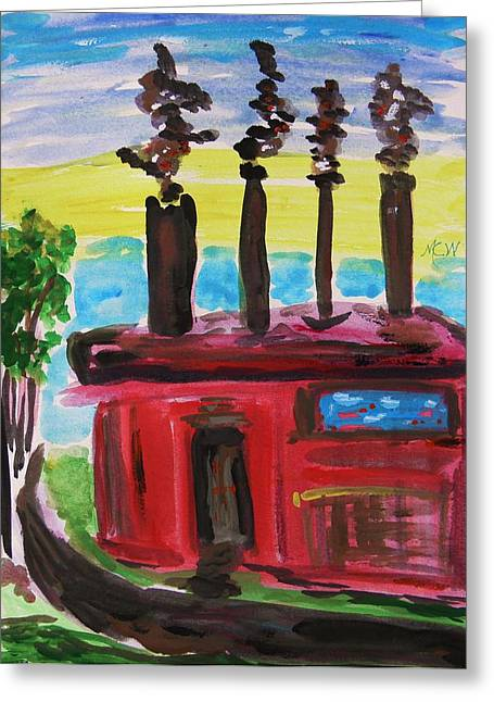 Stack Drawings Greeting Cards - In the Productive Years Greeting Card by Mary Carol Williams