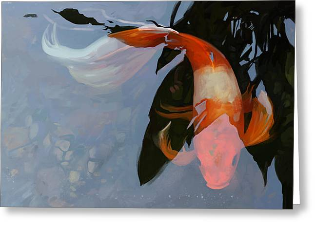 In the Shadows Greeting Card by Steve Goad
