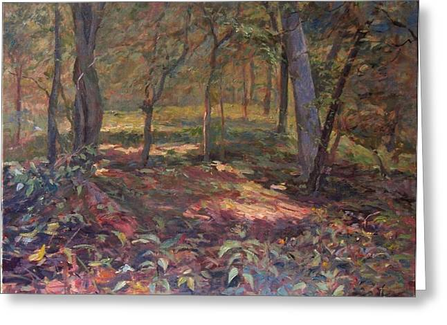 Gambrills Greeting Cards - In the Woods  Greeting Card by Jeanean Martin