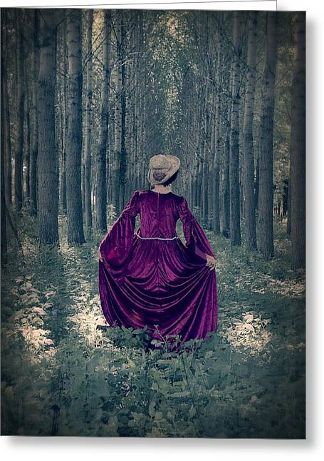 Period Greeting Cards - In The Woods Greeting Card by Joana Kruse