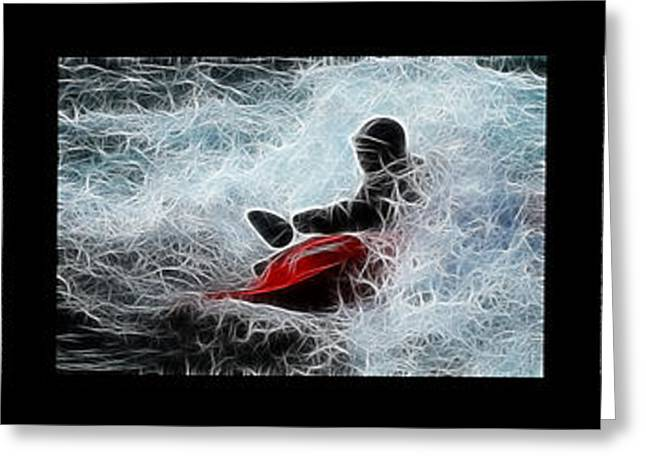 Sports Montage Greeting Cards - In The Zone No Caption Greeting Card by Bob Christopher