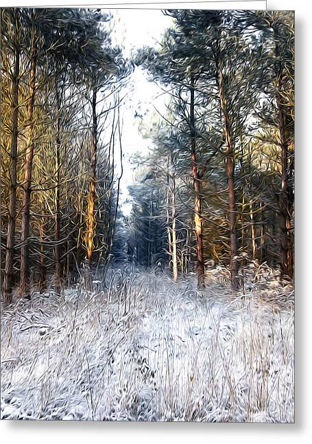 Oil Paint Digital Art Greeting Cards - In to the Dark Greeting Card by Svetlana Sewell